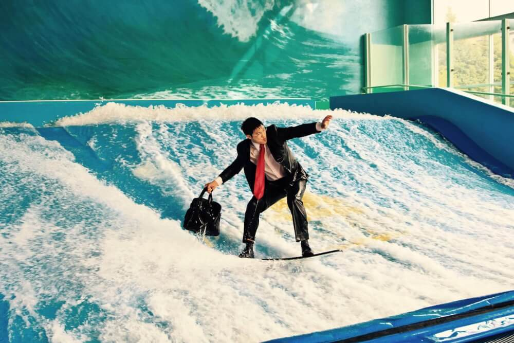 Flowrider fun for corporate parties