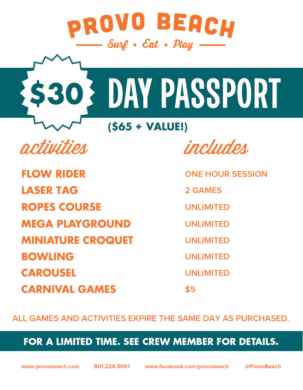 30- DAY PASSPORT NEW