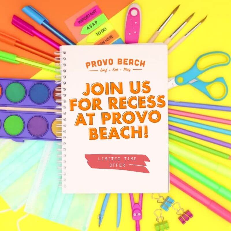 Join us for recess at Provo Beach